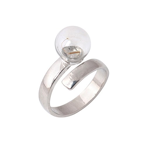(Fashion Ring, Hoshell Unique Creative Glass Ball Open Adjustable The Ring Jewellery Birthday Gift)