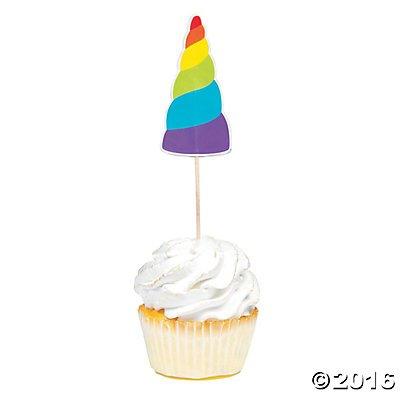 Unicorn Cupcake Picks - 25 pc (Unicorn Horns)