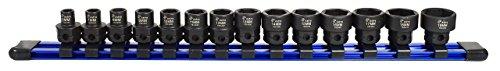 "Astro Pneumatic Tool 78314 Metric 3/8"" Drive Low Profile Nano Impact Sockets (14 - Metric Stubby Hex Socket"