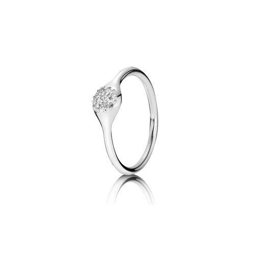 Pandora - 970110WD-54 - Bague - Femme - Or blanc  18 carats (750) - Taille 54