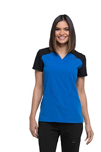Women's Xtreme Stretch Contrast V-Neck Scrub Top