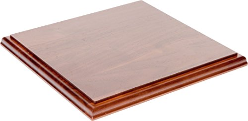 (Plymor Solid Walnut Square Wood Display Base with Ogee Edge.75