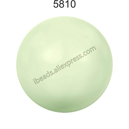 (Pukido 100% Original Crystal from Swarovski 5810 Pastel Color Series Matte Pearl Full drilled Hole DIY Loose Beads Jewelry Fitting 2018 - (Color: Pastel Green 967, Item Diameter: 12mm x 2 Pieces))