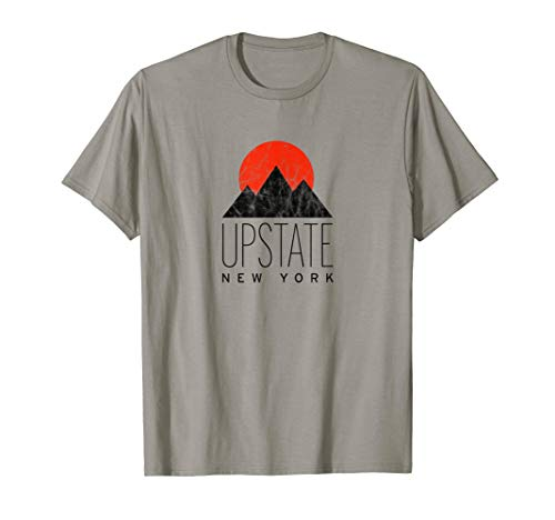 Vintage Upstate NY T-Shirt with Mountain Sunset