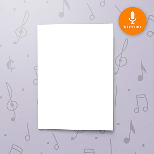 5x7 blank talking greeting card recordable sound music voice chip talking crafts