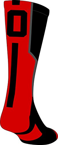 youth socks with numbers - 7