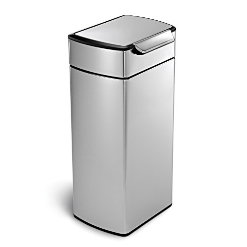 (simplehuman 30 Liter / 8 Gallon Stainless Steel Touch-Bar Kitchen Trash Can, Brushed Stainless Steel, ADA-Compliant)