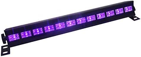[Gesponsert]UV Beleuchtung Schwarzlicht, Eleganted UV Led Strahler 12 LEDs x 3W Ultraviolett Disco Lichteffekt UV Led Licht für Parteien Bühne Disko DJ Verein Halloween Beleuchtung (12Leds x 3W)