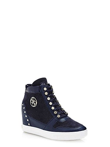 Interna Sneaker Zeppa Suede Guess Donna Bleu Blue Falan Stivaletto Zq7ZX