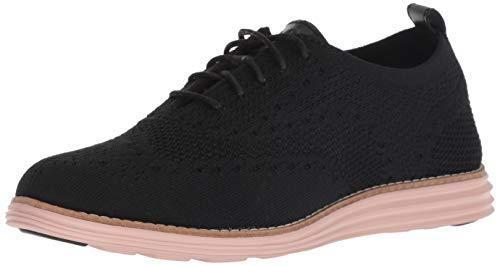 - Cole Haan Women's Original Grand Stitchlite Wing Oxford Knit/Black Leather/Misty, 7 B US