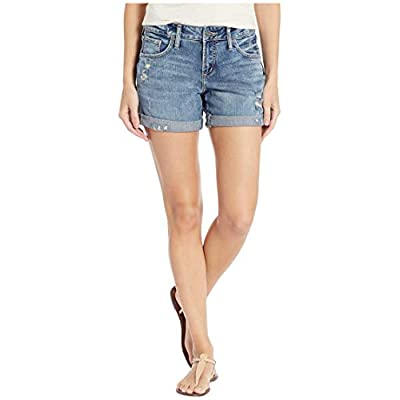 Silver Jeans Co. Women's Mid Rise Boyfriend Shorts: Clothing