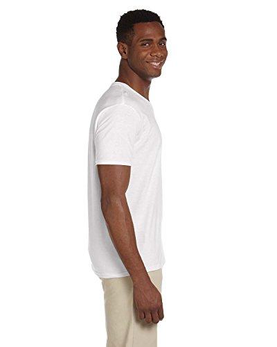 white Uomo V Soft Gildan Style Shirt neck T Us Medium wHzg7Yxqg