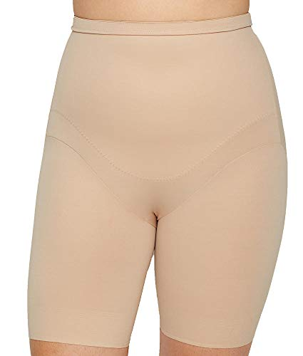 Miraclesuit Shapewear Women's Plus Size Extra Firm Control High-Waist Thigh Slimmer Nude 2X ()