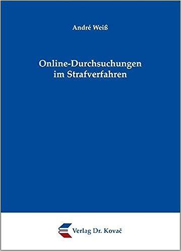Book Online-Durchsuchungen im Strafverfahren