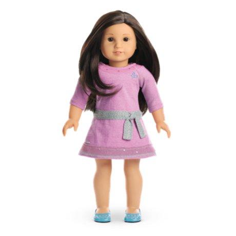 American Girl - Truly MeTM Doll: Light Skin, Layered Black-Brown Hair, Brown Eyes DN30