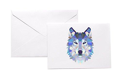 polygonal-wolf-head-stationery-note-card-set