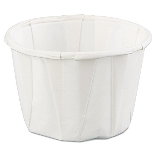 Squat Paper Portion Cup, 1oz, White, 250/bag, 20 Bags/carton By: Genpak