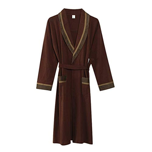 V Estilo Pijamas Albornoz Larga Hombre cuello 5 Con Cinturón Otoño Respirable Mujer Pijama Especial Manga Elegantes Camisones Batas Primavera Cómodo Moda S6Snxwz