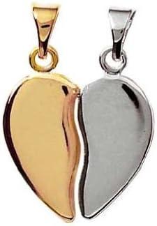 Pendentif Coeur s/écable /à partager Argent Massif