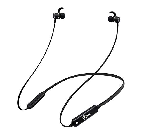 Caraok Bluetooth Headphones Waterproof IPX7, Magnetic Wireless Earbuds, HiFi Stereo in-Ear Bluetooth Headsets w/Mic,8 Hrs Playback Noise Cancelling Earphones (Black Headphone)