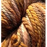 Hand Dyed Baby Alpaca Yarn, Hand Painted: Hammered Copper, Heavy Worsted Weight, 100 Grams, 102 Yards, 100% Baby Alpaca
