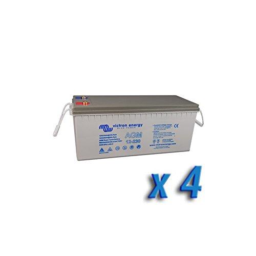Victron Energy - Set 4 x Batterie 230Ah 12V AGM Super Cycle Victron Energy Photovoltaïque Nautiqu - BAT412123081x4
