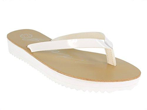 Beppi blanco mujer Sintético Blanco para de Sandalias Material 1CwxqUa1