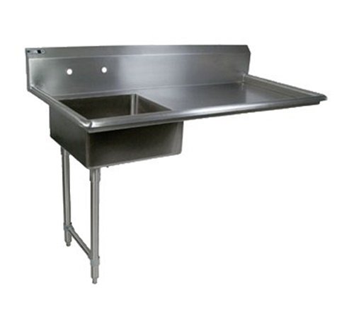 John Boos JDTS-20-60UCL Stainless Steel Pro-Bowl Undercounter Soiled Dishtable, 8