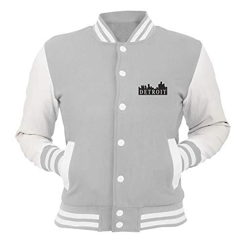T shirtshock Giacca Skyline Tstem0023 College Grigio Detroit rrqRn0dBx
