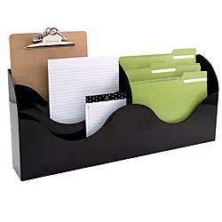Innovative Storage Designs 6 Pocket File Organizer, Black