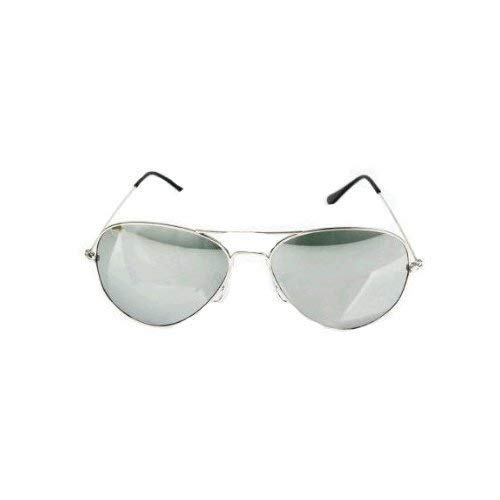 ec5136c59 Nero Eyewear Small Adult Aviator Sunglasses with Silver Frames & Fully  Mirrored Lenses Offering Full UV400 Protection Cat 3 Lenses Come Complete  with Carry ...
