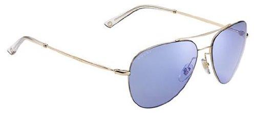 Gucci Unisex GG 2245/S Gold Copper/Lilac Mirror Blue