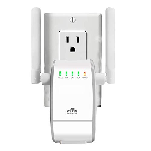 AMAKE WiFi Range Extender/ 300Mbps Mini WiFi Extender/360 Degree Full Coverage/Wireless Repeater/Internet Signal Booster with External Antennas,