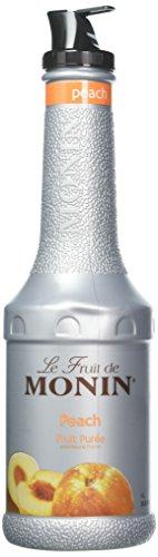 Peach Cocktail (Monin Peach Fruit Purée - Fruit Puree Beverage Mixer - Non GMO - No Artificial Ingredients - Allergen Free - 1 Liter Bottle)