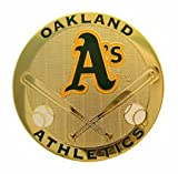 Oakland Athletics Round Metal Magnet