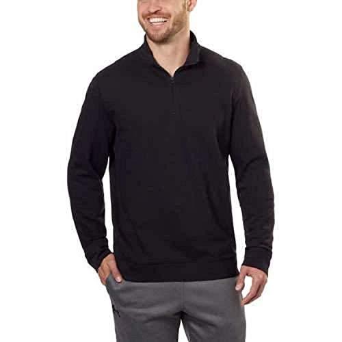 Calvin Klein Mens ¼ Zip Pullover, (X-Large) Black (Mens Sweater Quarter Zip)