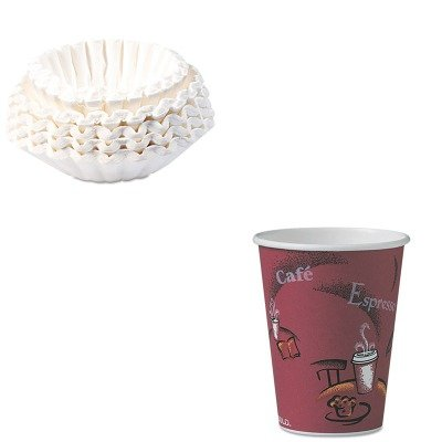 KITBUN1M5002SLOOF12BI0041 - Value Kit - Solo Bistro Design Hot Drink Cups (SLOOF12BI0041) and Bunn Coffee Commercial Coffee Filters (BUN1M5002) by Solo