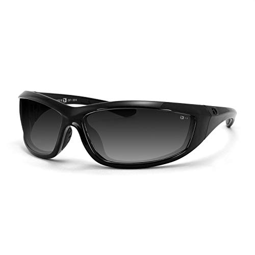 Bobster Charger Sunglasses, Black Frame/Smoke Lens (Motorcycle Womens Sunglasses Bobster)