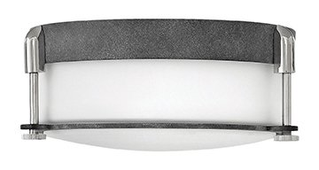 Hinkley Outdoor Mount - Hinkley 3231DZ Transitional Two Light Flush Mount from Colbin collection in Bronze/Darkfinish,