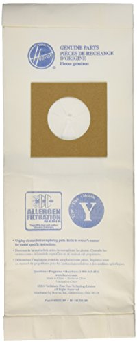 Hoover Paper Bag, Type Y Micro Wind Tunnel (Pack of 3)