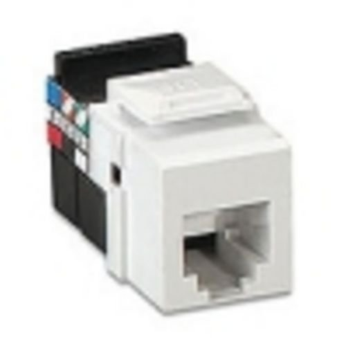 Quickport 6 Conductor Usoc Connector (LEVITON 41106RW6 RJ11 SNAP IN JACK WHITE, 6 CO)