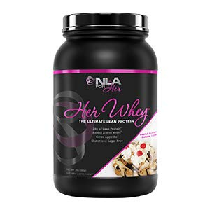 NLA for Her- Her Whey- Lean Whey Isolate Protein for Women-Added Amino Acids for Recovery, Builds Muscle, Curbs Appetite- 5 Flavor Choices - 2 lb tub ... (Peanut Butter Banana Split)
