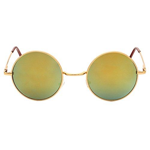 Redondo Hombrs Mujers 5 Color Vintage sol de Gafas Juleya HxpzqwBq