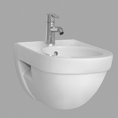 Nameeks Vitra 4307-003-0288-638845330978 Form500 Collection Upscale Wall Mounted Ceramic Bidet, White
