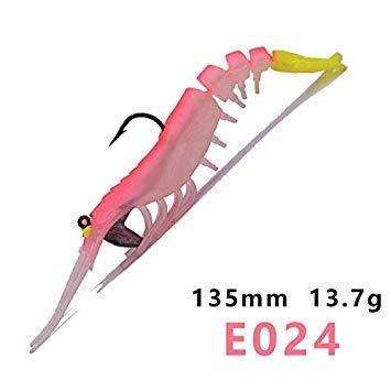 Sellify Esche da pesca - 2St 2018 esche da pesca del gambero affrontare al meglio Rattlin artificiale 13,5 centimetri morbida Garnelen richiamo pro trota di mare Bass esche da pesca - (Colore: HA-024)
