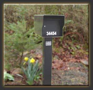 Fort Knox Mailbox LG Standard B Large Standard Mailbox - Black ()