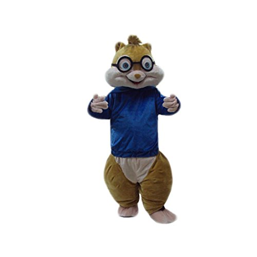 [Squirrel Alvin and the Chipmunks Mascot Costume Cartoon Character 100% Real Picture Longteng] (Chipmunk Squirrel Costume Party)