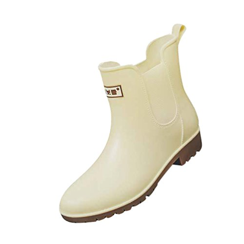 Agua Xinwcang Impermeable Antideslizante Botas de Shorty Casual Boot Botas de Muy Ligera Mujer Zapatos Caqui Lluvia zqrqfFYw
