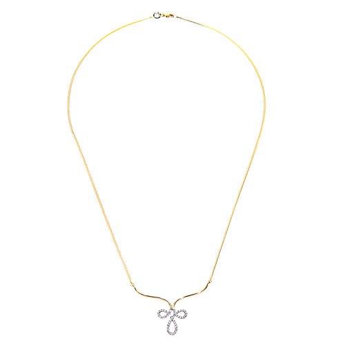 Revoni Bague en or jaune 9carats-Collier Femme-diamant
