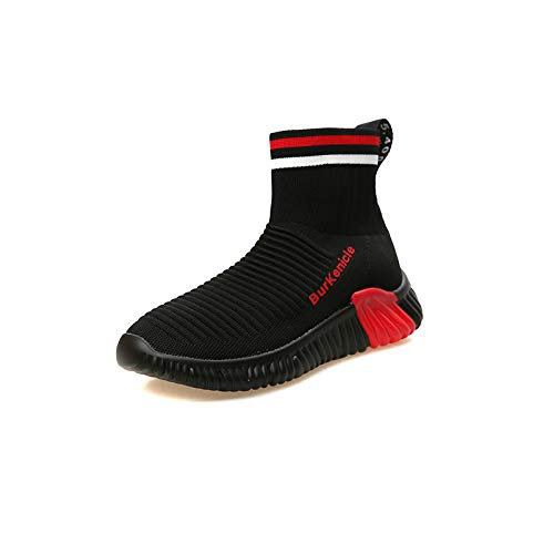 Liuxc Damenschuhe Stiefelies Damenschuhe elastische Stiefel Damen Gewebte atmungsaktive High-Top-Flache Sportschuhe